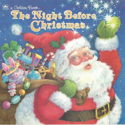 Golden Book Night Before Christmas front cover